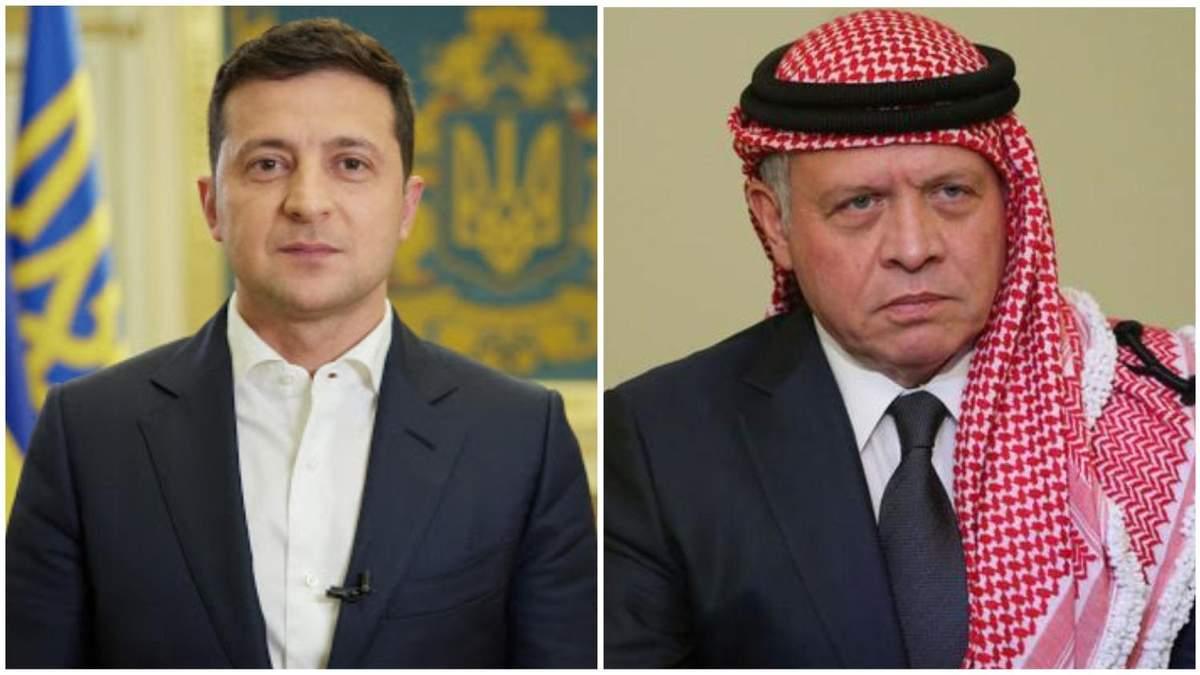 Зеленський провів переговори з королем Йорданії
