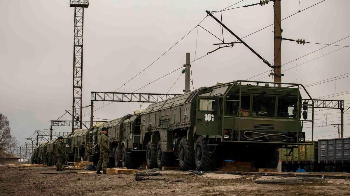 Росія підтвердила стягування Іскандерів до кордону з Україною