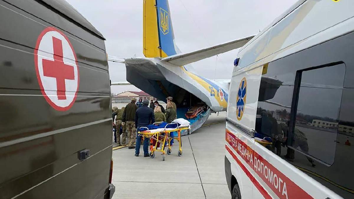 Раненых на востоке Украины военных эвакуировали из Харькова во Львов