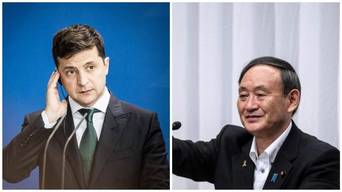 Зеленський поговорив про Донбас з прем'єром Японії Йосіхіде Сугою