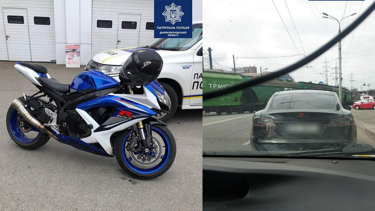 Патрульні у Дніпрі знайшли авто та мотоцикл, які угнали в Європі