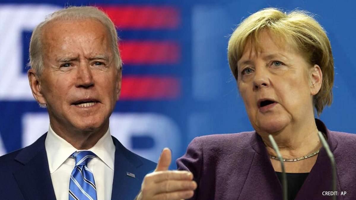 Байден и Меркель обсудили ситуацию на границах Украины