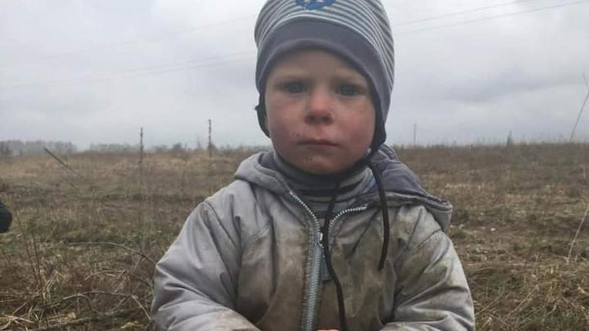 Знайшли 2-річного хлопчика, що загубився на Київщині 14.04.2021