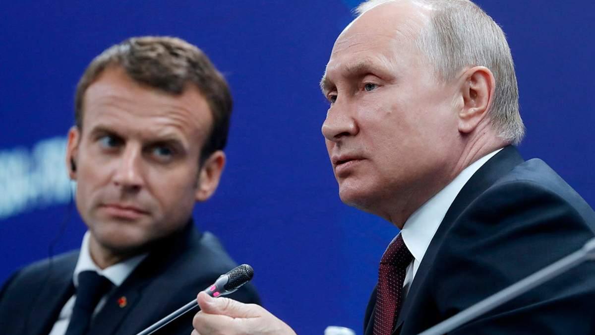 Макрон планує знову обговорити з Путіним ситуацію в Україні