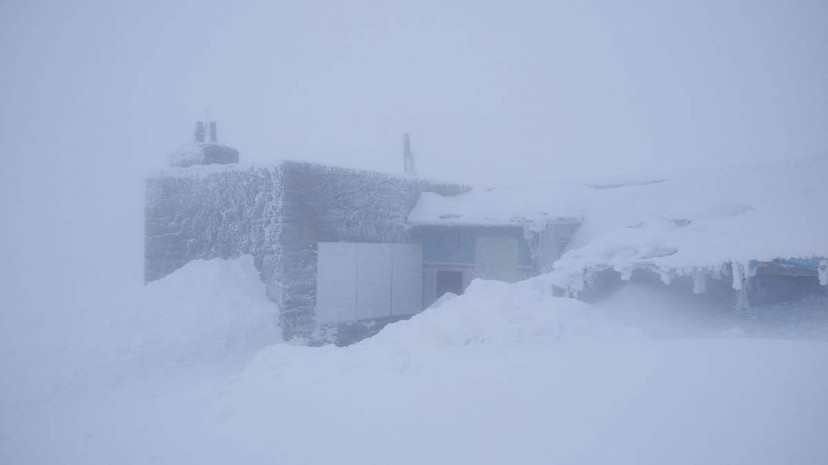 В Карпатах - снегопад, температура упала до -3 градусов