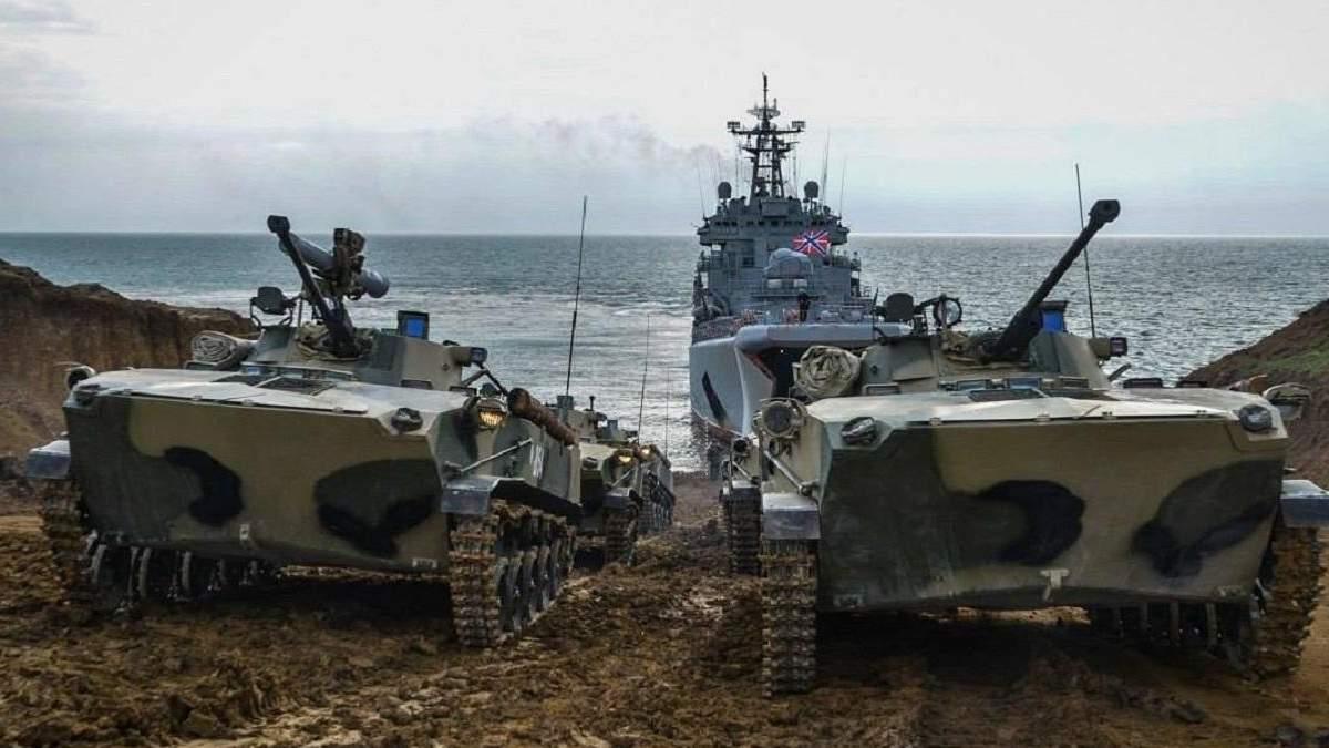 Росія завершує формувати ударно-десантне угруповання в Криму