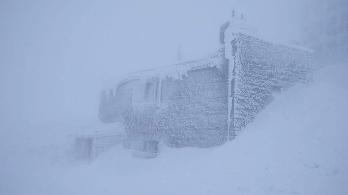 Негода у Карпатах: падає сніг 20 квітня 2021 – відео