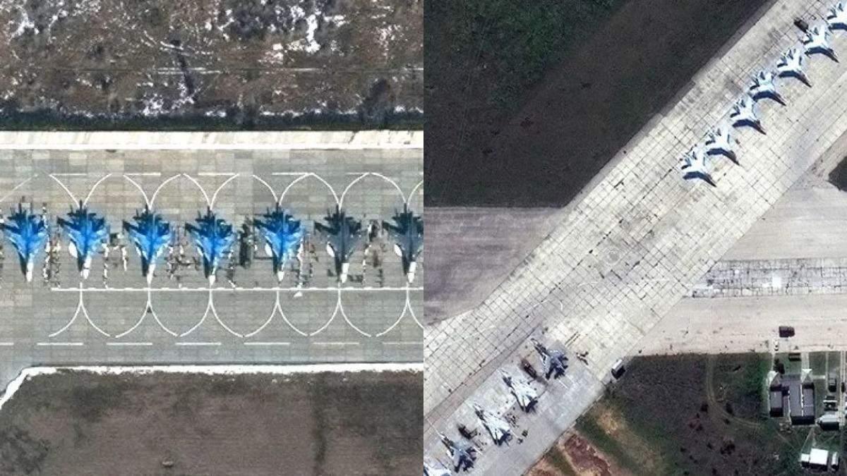 Россия перебрасывает дополнительную авиацию в Крым: спутниковые фото