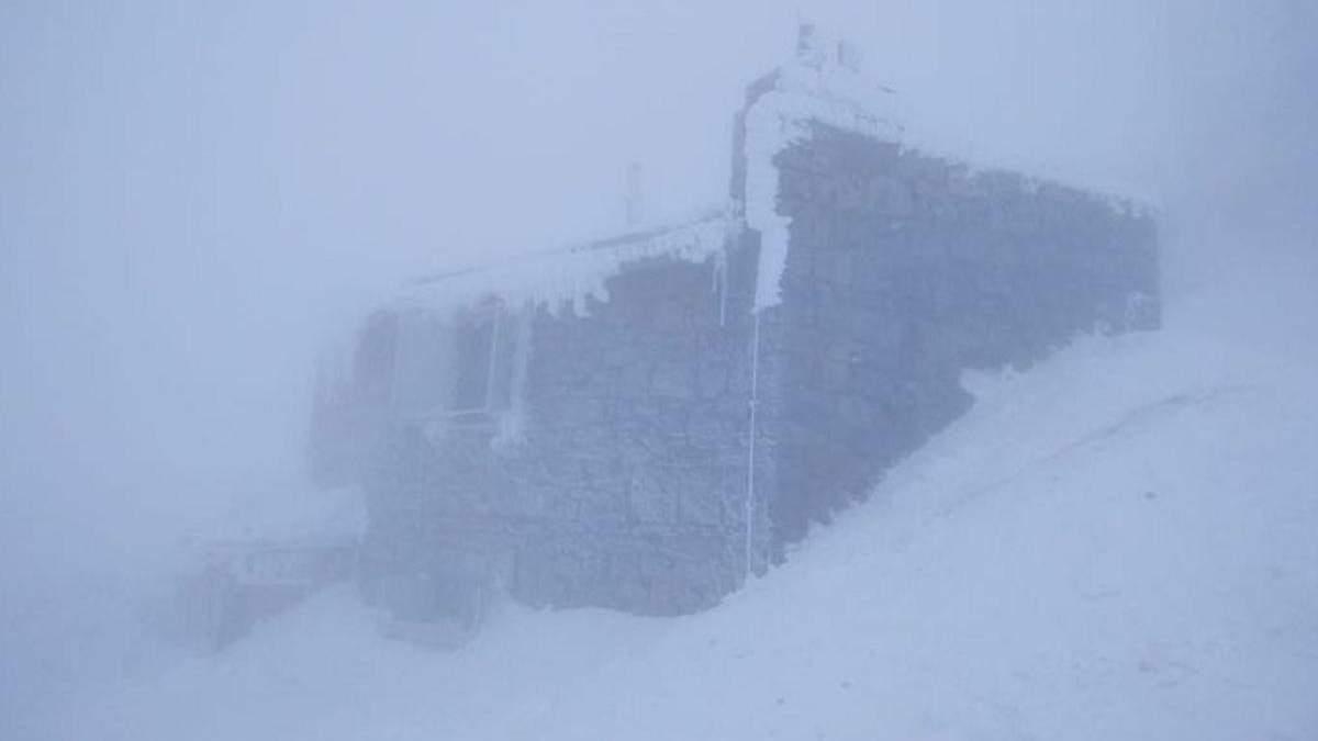 Погода у Карпатах 22 квітня 2021: на Піп Івані сніг і мороз