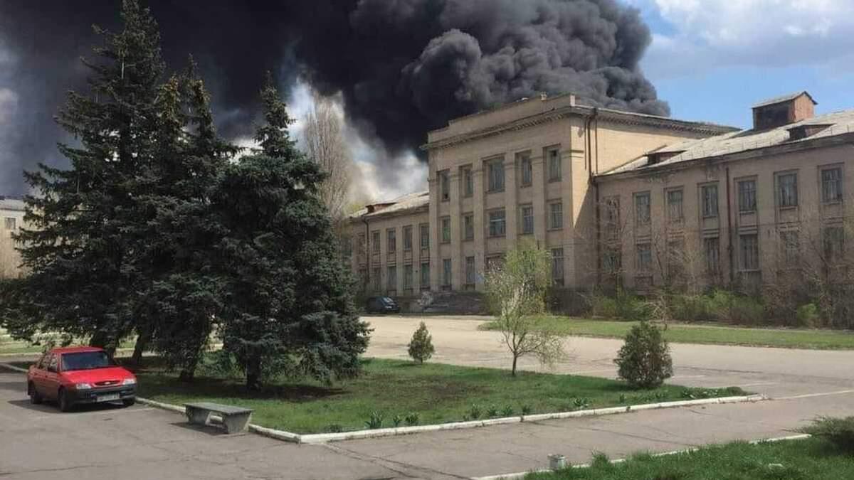 На Луганщині трапилася пожежа у військовій частині 22 квітня 2021