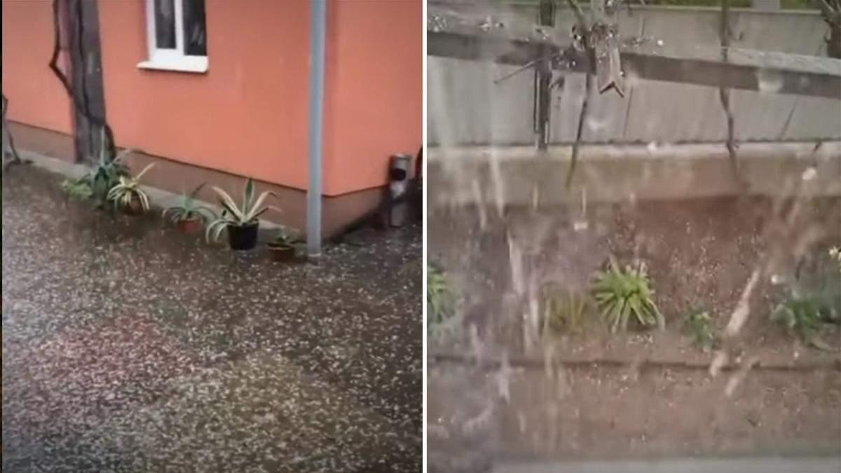 Закарпатье накрыла мощная буря, выпал град 22 апреля 2021: видео