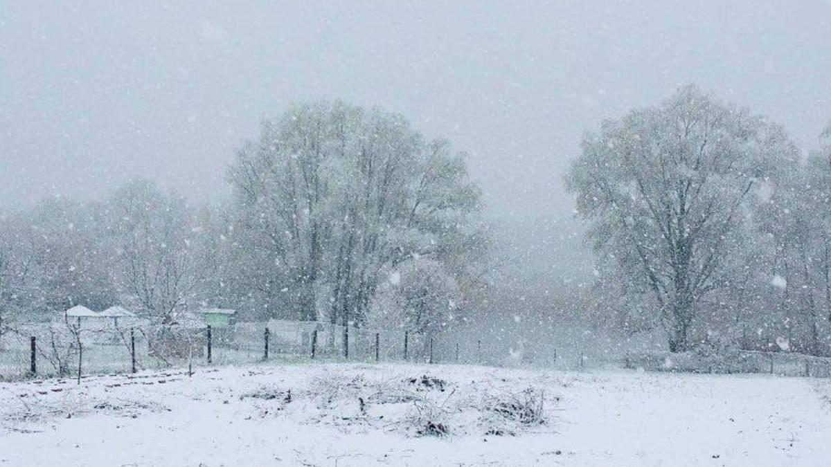 В конце апреля 2021 Украину засыпает снегом: фото, видео