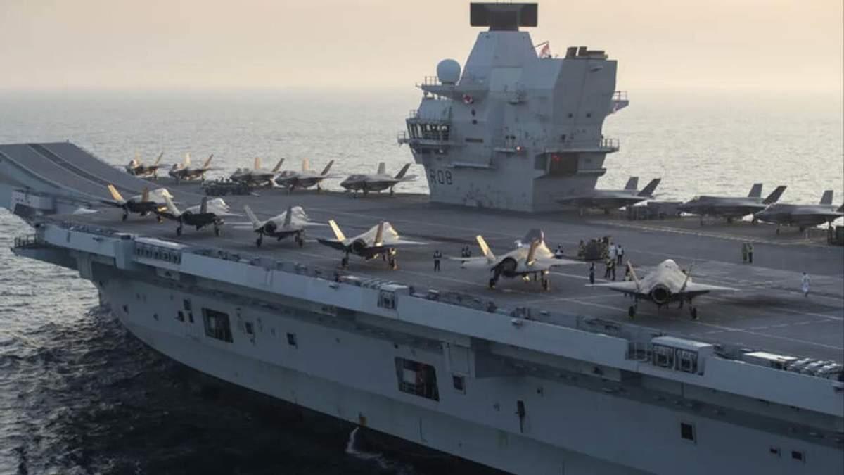 Найбільша авіаносна група ВМС Великої Британії відправляється у похід
