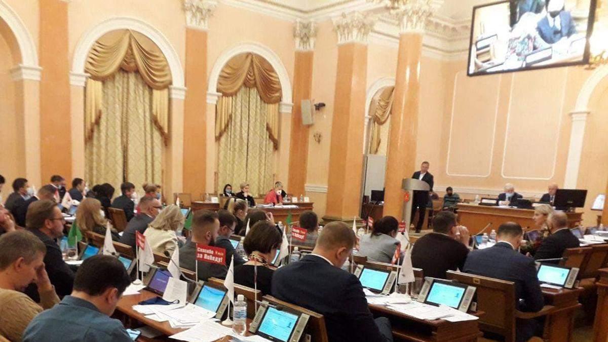 В міськраду Одеси викликали поліцію: депутати і мер без масок – відео