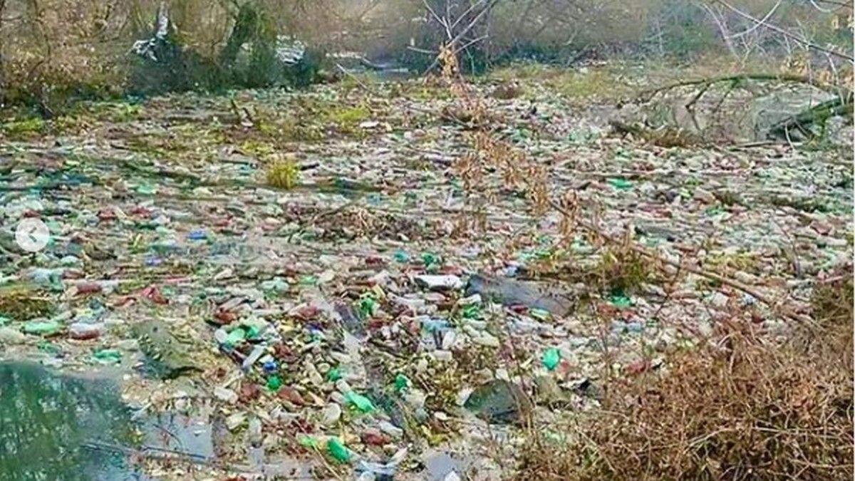 """""""Тонни пластику"""": 30-метровий """"сміттєвий острів"""" утворився під Харковом – відео"""