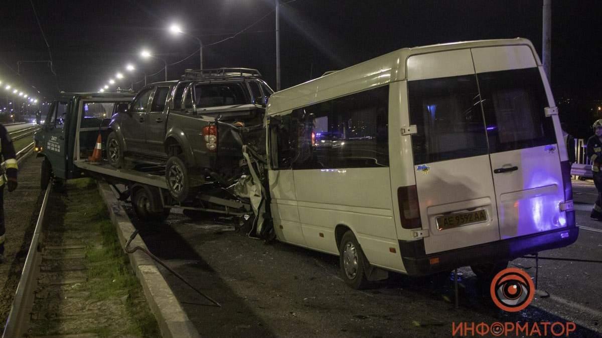 Аварія на Кайдакському мосту у Дніпрі