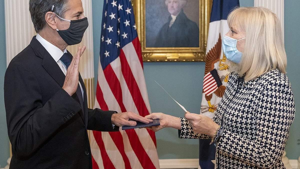 Блинкен государственный секретарь США с 2021