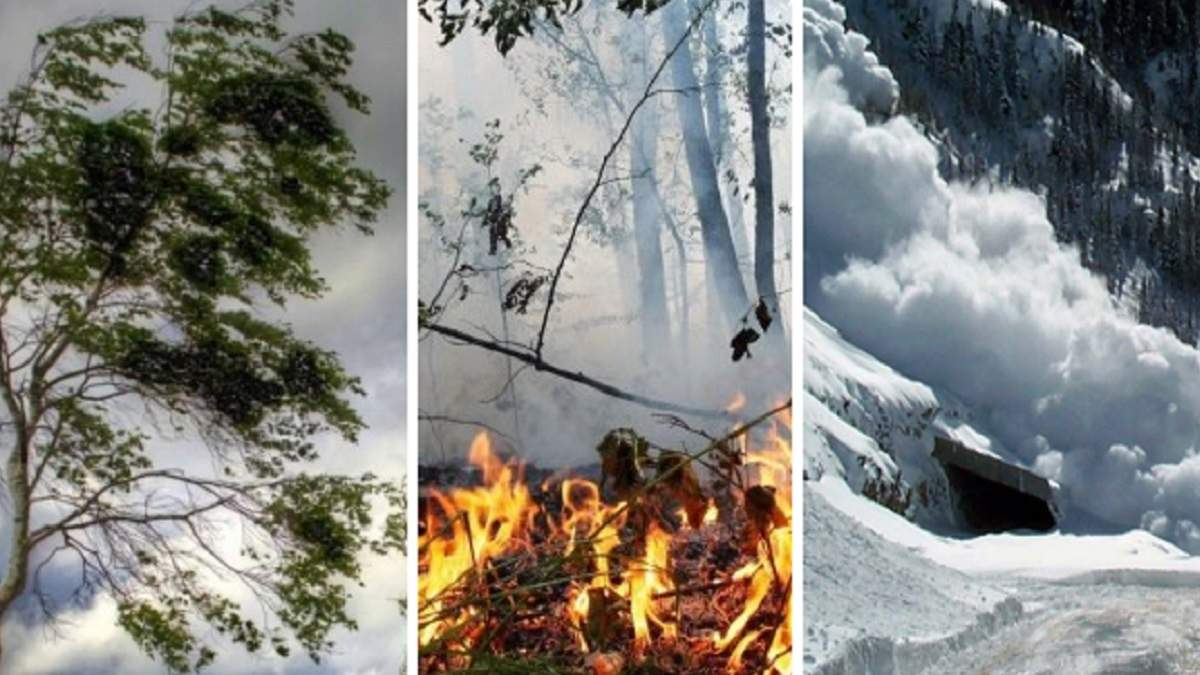 Вітер, пожежна небезпека і загроза лавин: негода 3 травня 2021