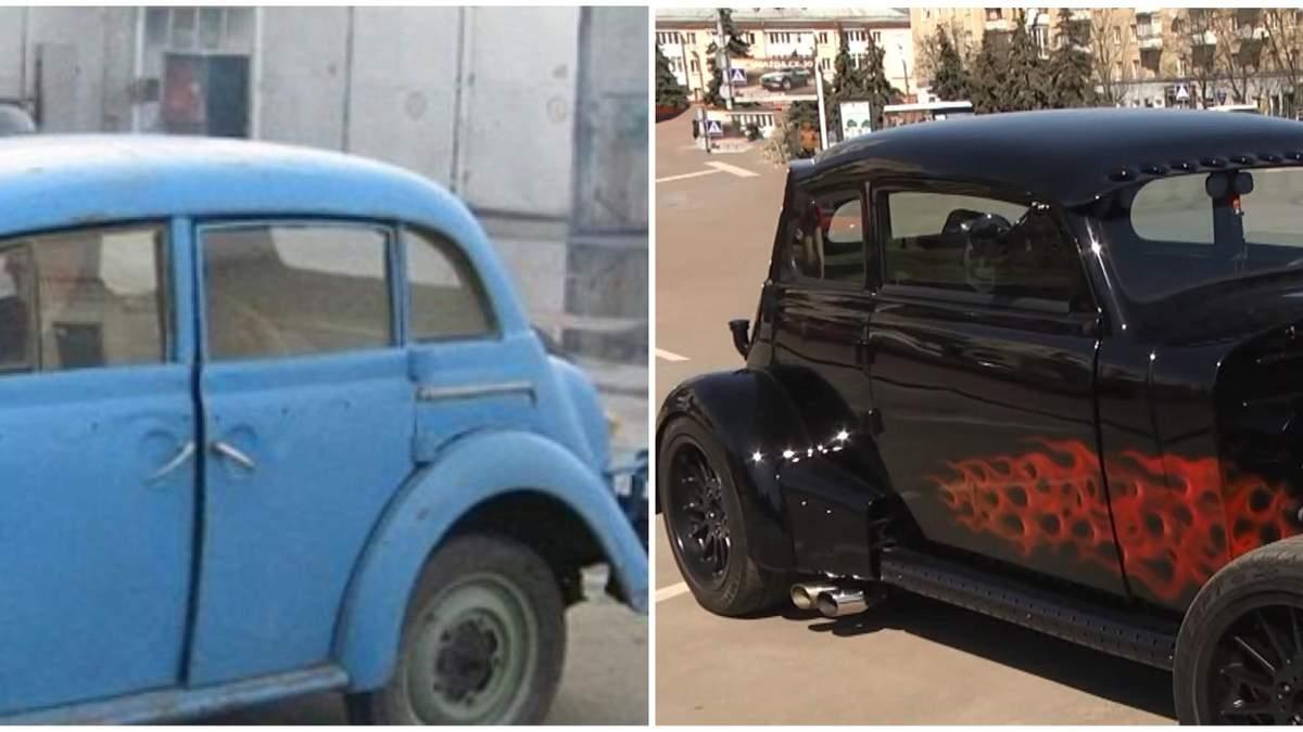 В Житомире переделали старый Москвич на авто для гонок: фото