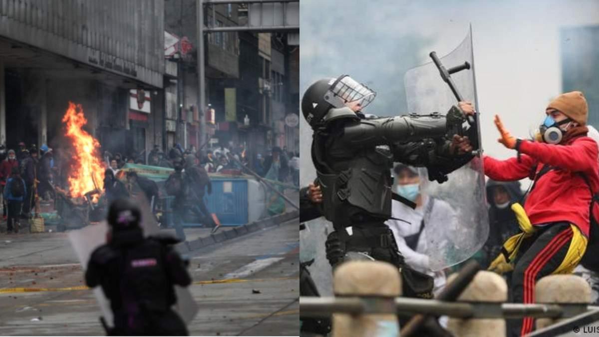 У Колумбії загинули щонайменше 17 протестувальників