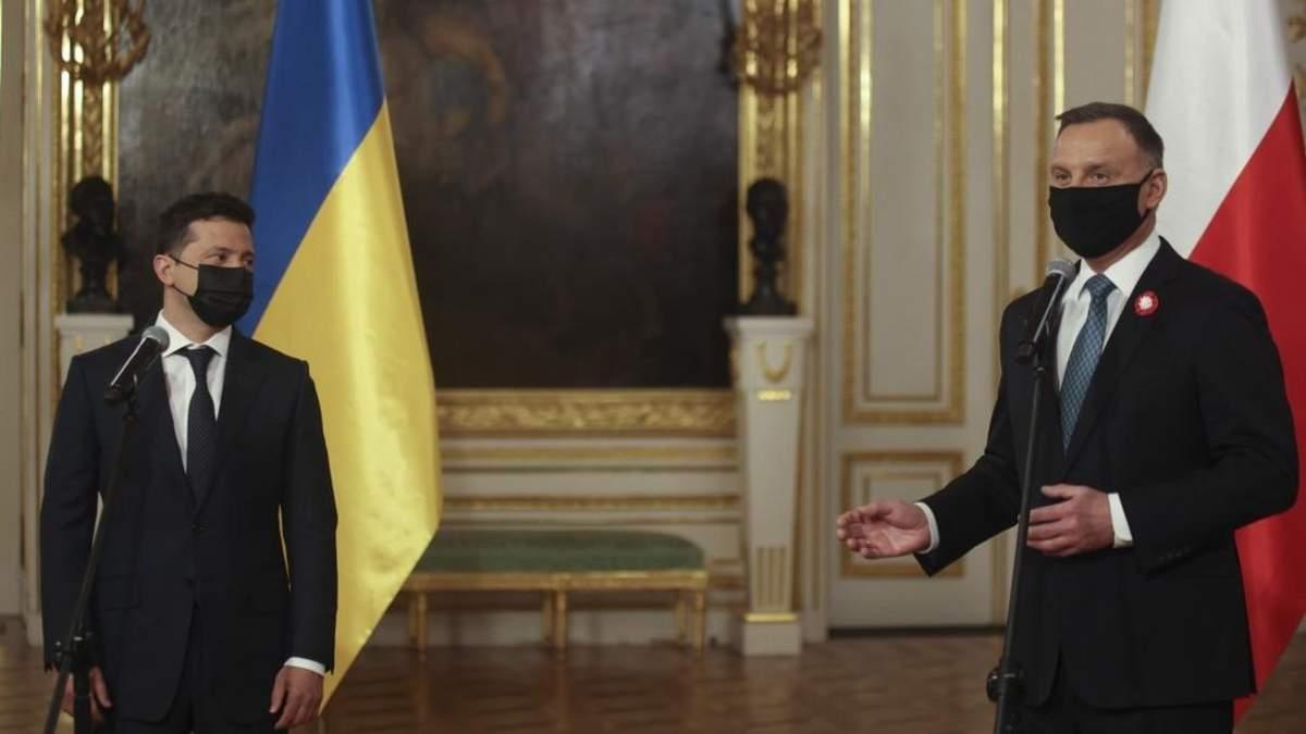 Зеленский и Дуда подписали декларацию по приближению Украины к ЕС
