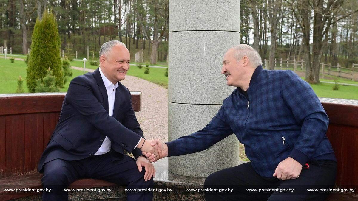 Додон похвалив Лукашенка за придушення протестів в Білорусі