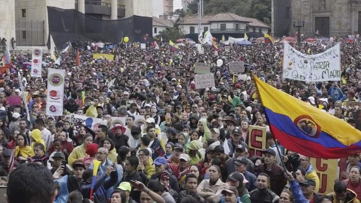 Під час протестів у Колумбії 89 людей зникли безвісти, є неповнолітні