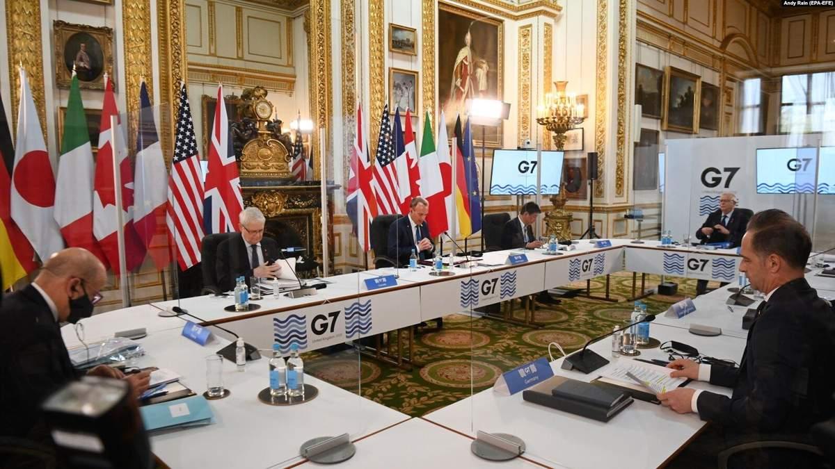 У G7 закликали Росію повністю відвести війська від кордону України