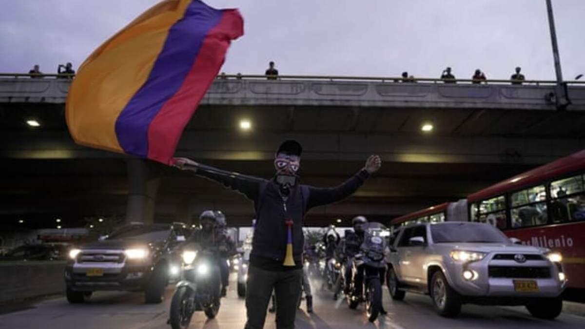 У Колумбії протестувальники хотіли прорватися на засідання Конгресу