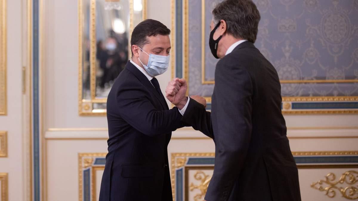 Зеленский и Блинкен обсудили ситуацию в Черном и Азовском морях