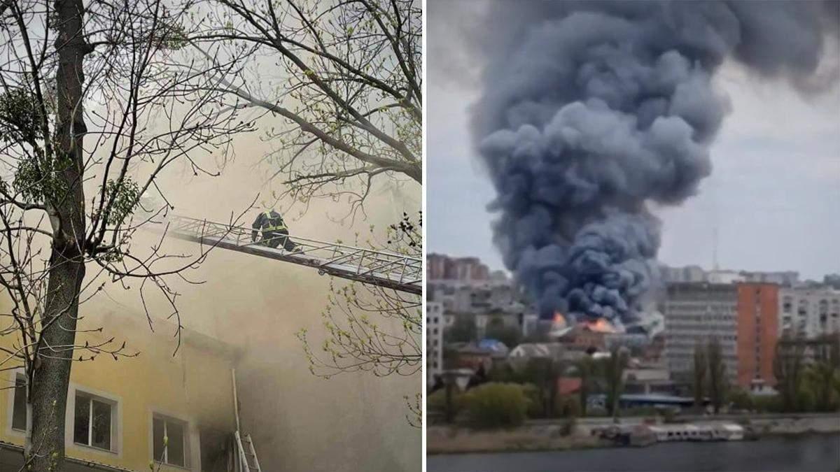 У Вінниці загорівся офісний центр 6 травня 2021: є жертва