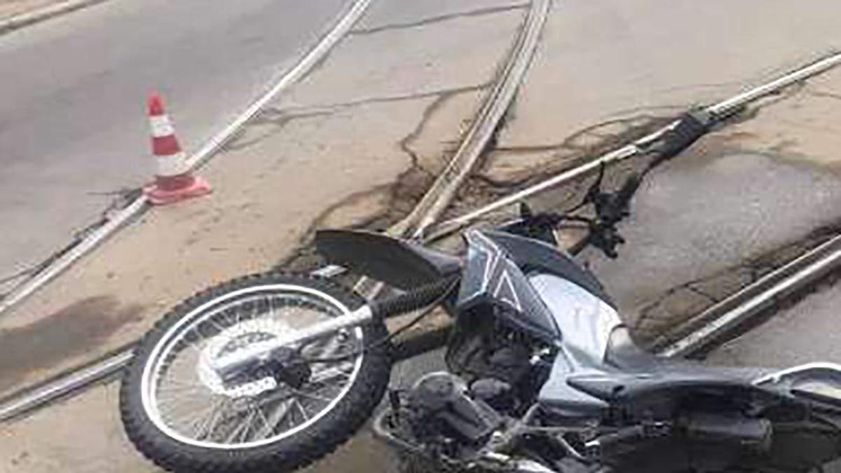 В Кривом Роге мотоциклиста задавила маршрутка: дедушка умер