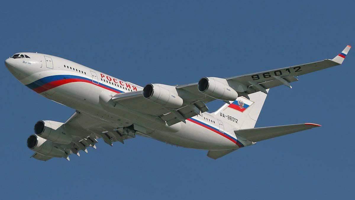 Іл-96 Росії порушив повітряний простір Естонії–ним літають перші особи