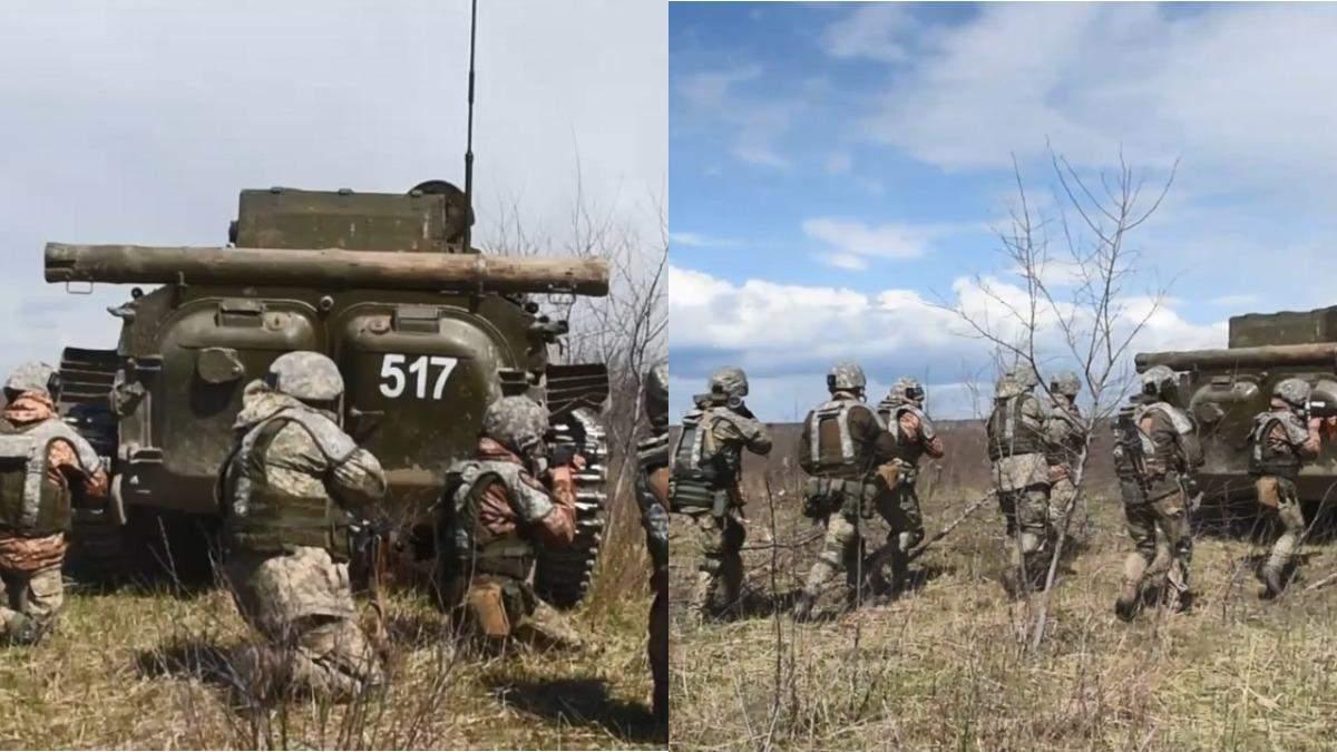 На военном полигоне Ровенской области продолжаются учения пехотинцев