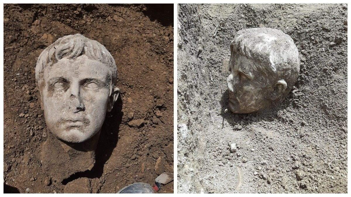 В Италии археологи откопали мраморную голову первого императора Рима