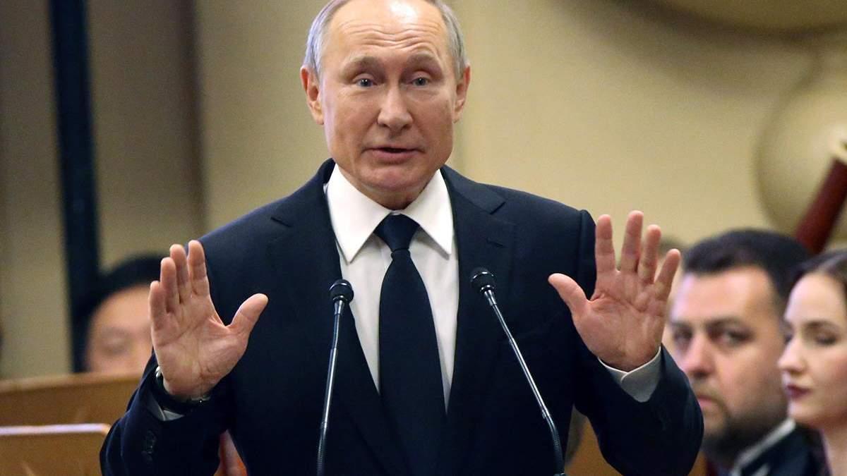 Путін привітав українців з Днем перемоги, але не Зеленського