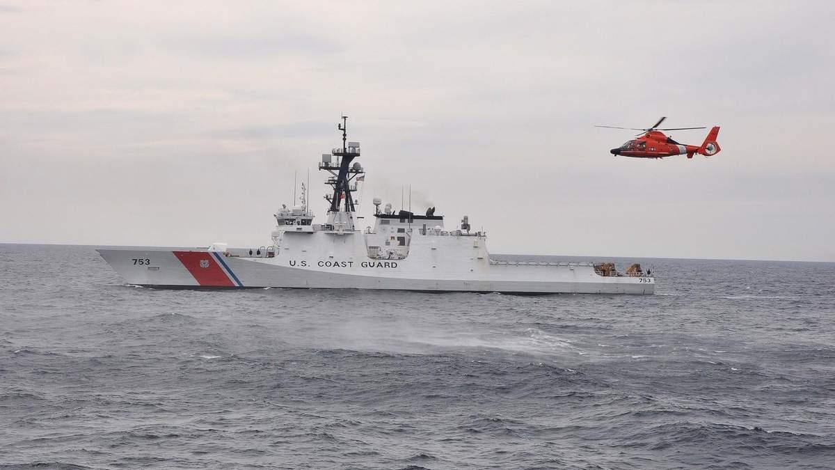 Флагман Морской охраны ГПСУ встретил корабль Береговой охраны США