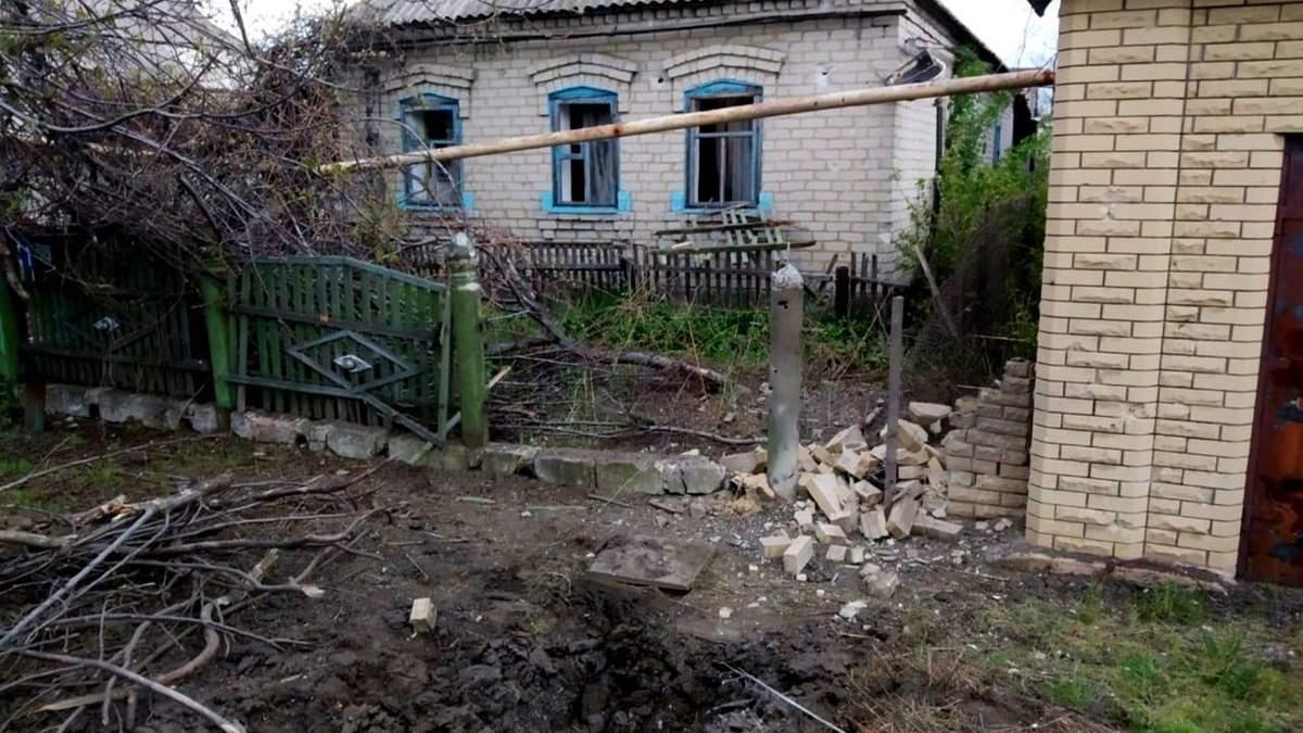 Военные показали последствия обстрела жилых районов Марьинки фото