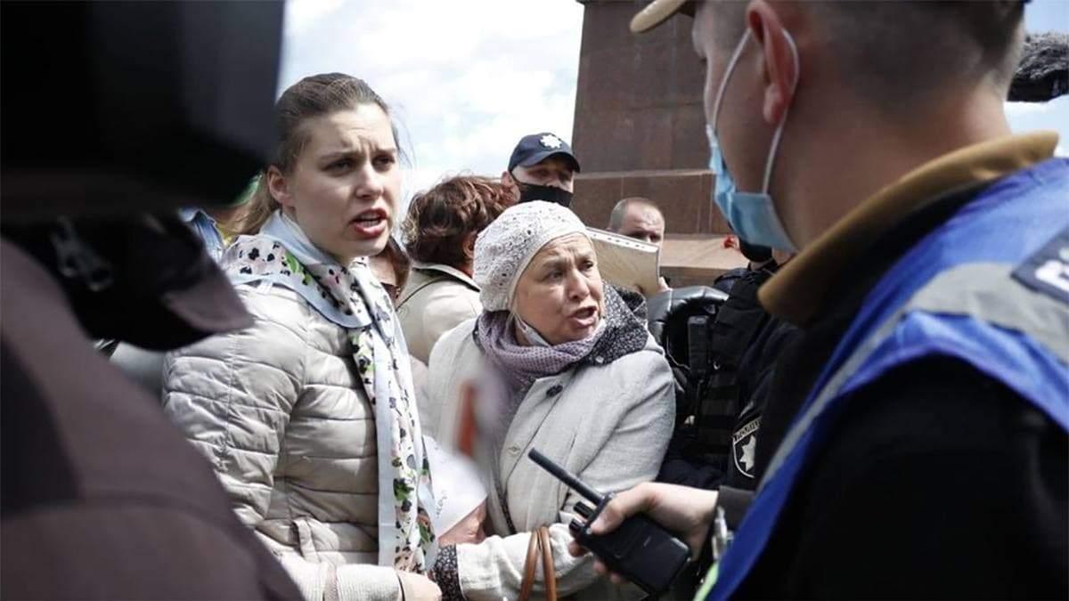 В Одессе на Аллее Славы выкрикивали сепаратистские лозунги: видео