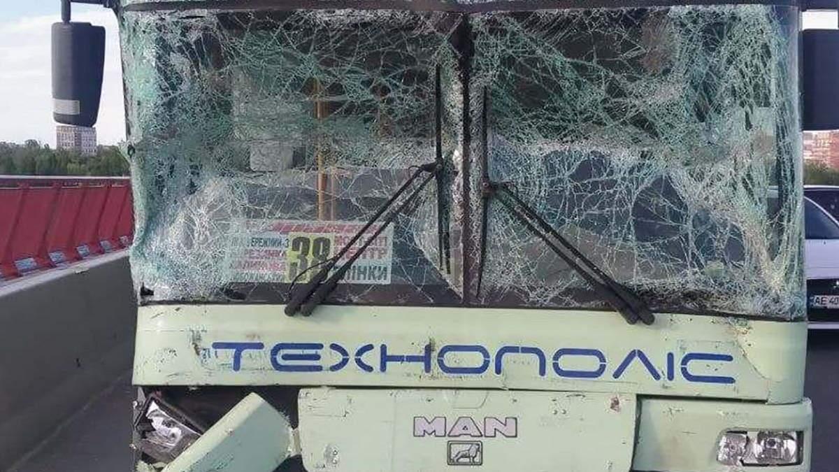 ДТП с автобусами на Центральном мосту в Днепре: есть пострадавшие