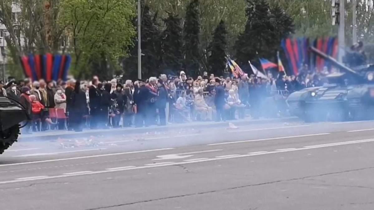 ОБСЕ подсчитала количество зрителей на параде в оккупированном Донецке