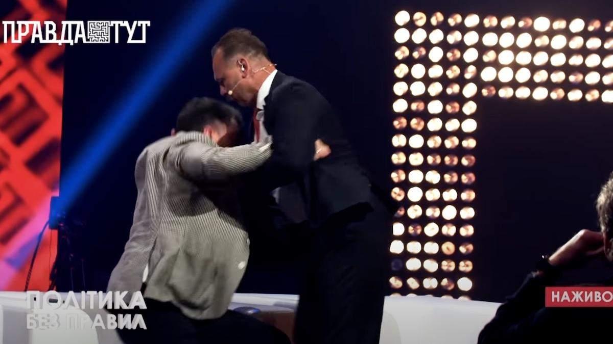 Порошенківець Барна побився зі слугою Соломчуком у телеефірі – відео
