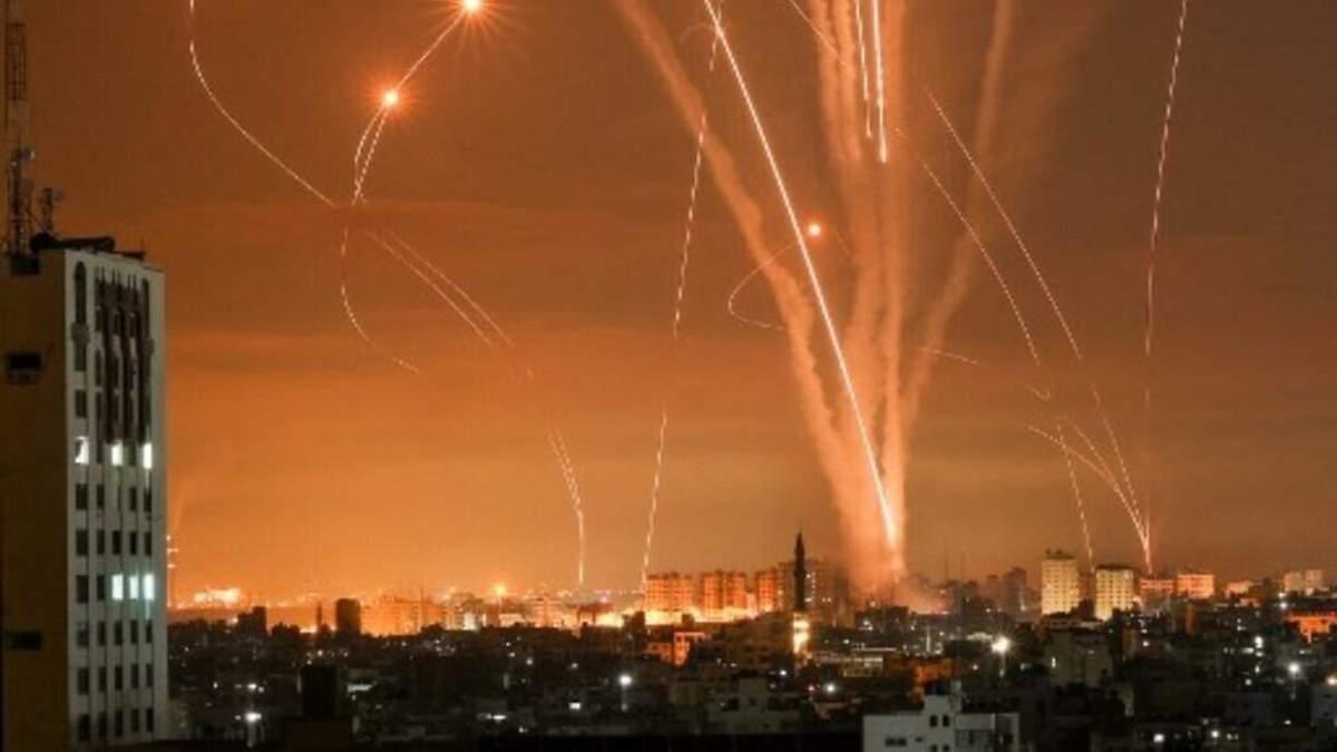 Обстрелы из сектора Газы продолжались всю ночь 14 мая