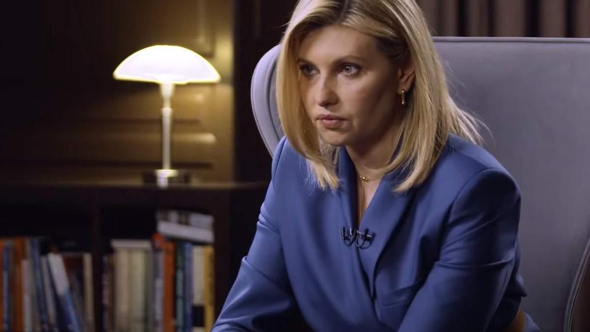 Перше телевізійне інтерв'ю Олени Зеленської: головні тези