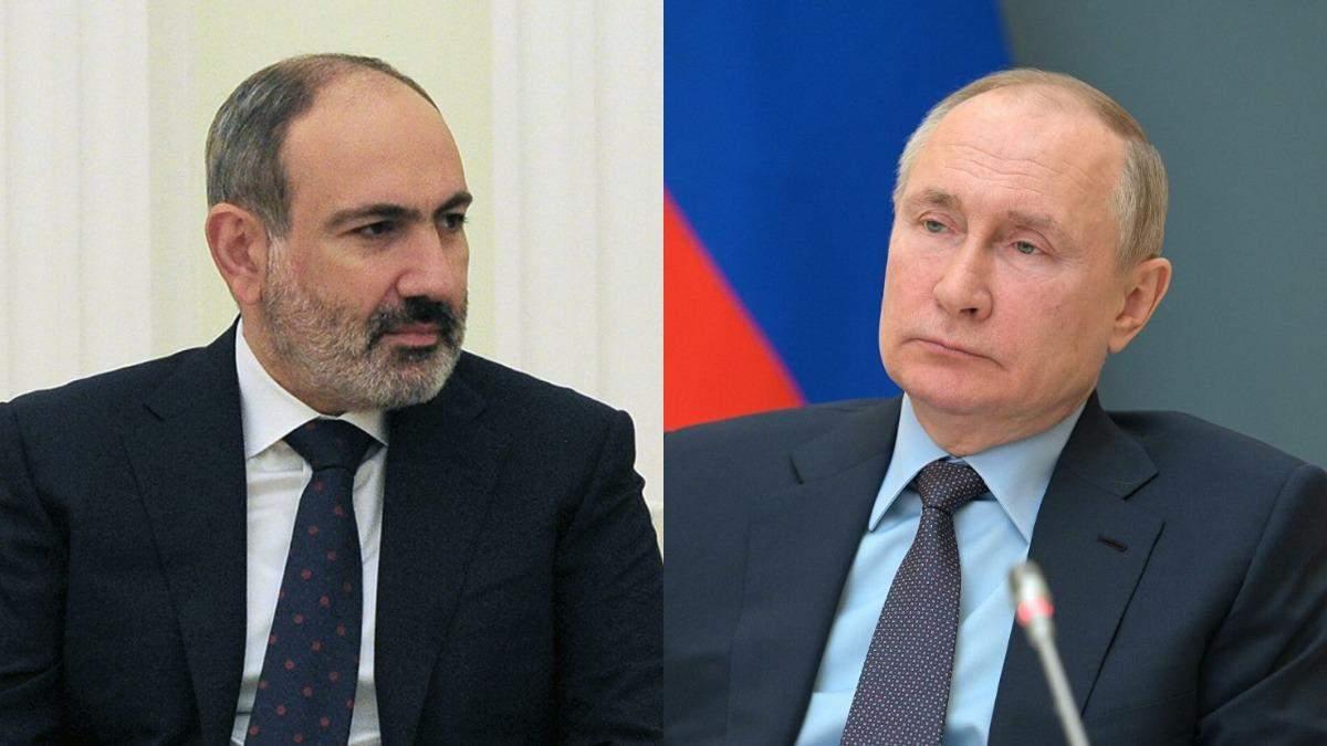 Пашинян попросив Путіна військової допомоги