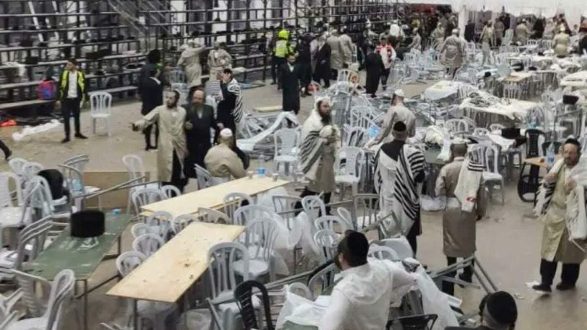 От обвала трибуны в Израиле пострадали более 160 человек