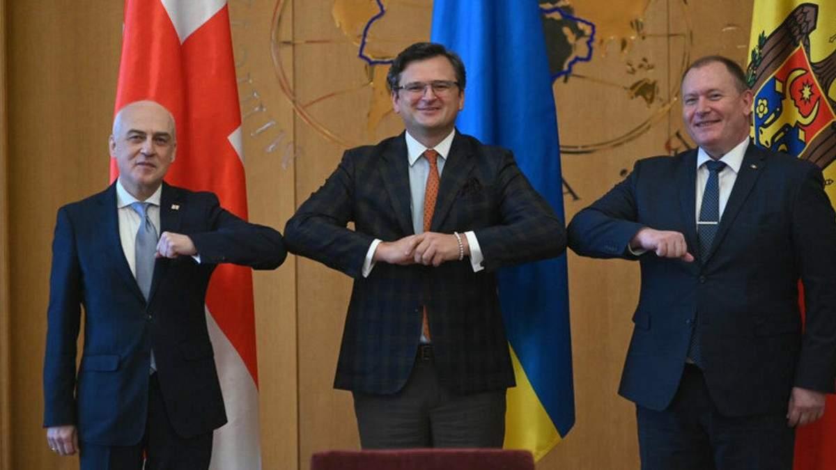 Україна, Грузія і Молдова заснували Асоційоване тріо для вступу в ЄС