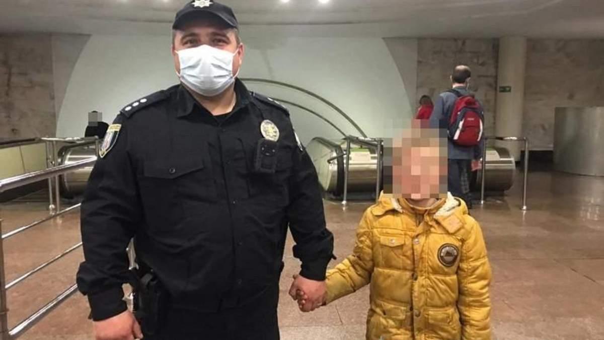В Киеве папа не досмотрел за сыном, но протокол составили на маму