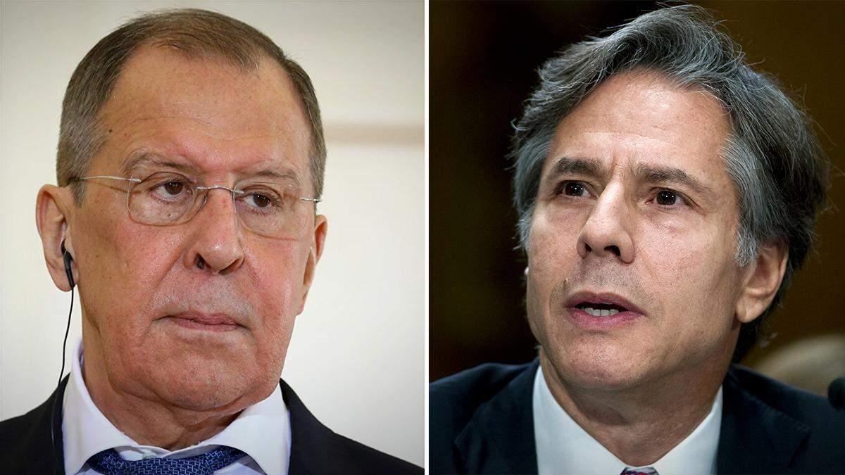Блинкен предостерег Лаврова, что США не оставят без ответа агрессию РФ
