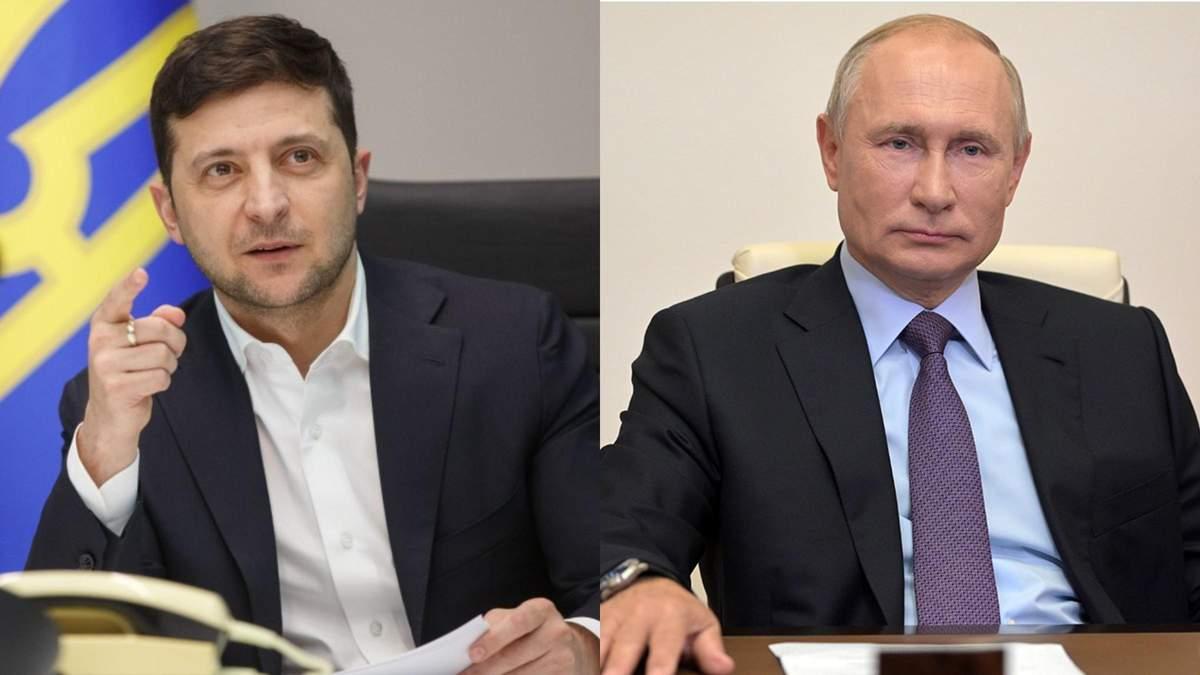 Розпочали розмову, – Зеленський про зустріч з Путіним
